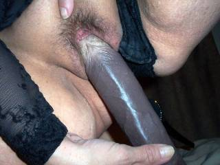 Dam wish that was my hard black cock going in your sweet hot wet tight pussy mmmm
