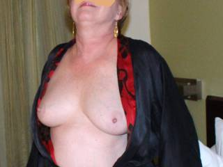 She loves to have her tits fondled and nipples sucked.  I\'ll handle that Double D on the right, any volunteers to take care of the left tit?
