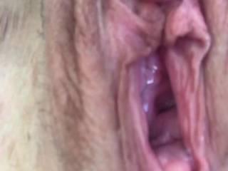 Moist pussy warming up to masturbate! 🤗