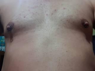 My pierced nipples