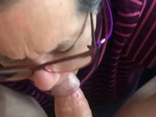She really wanted to please me as you can see.   Wouldn't you like her sucking away on you?