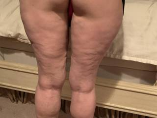 Bent over with hi heals on so grab on to your cock and image them in front of you