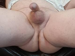 My relaxed foreskin pulled back cock