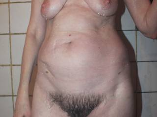 She loves to show her hairy bush