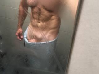 Just feeling horny after a good shower wank!!