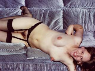 omg, my cock just went bang, those nipples are amazing. i need to suck them real hard while i play with your beautiful hairy pussy