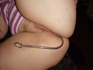 mmmm....i'd like to fuck you when we both have our butt toys in!