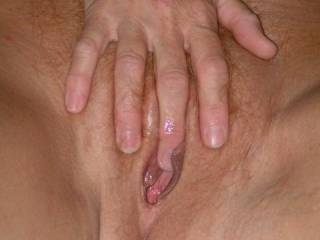 Like to be in that well fucked  wet filled pussy to leave my load as well after a hard deep fucking