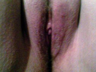 My wifes sexy shaved pussy.