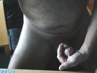 Wanking at home when the wife was out, watching a great porn movie. What could YOU do with this??!!