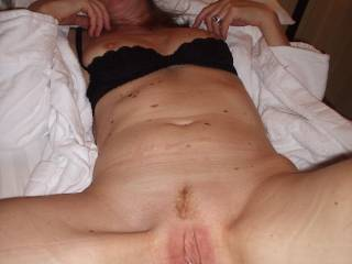 Mmmmmmmmmmmmm I think a good long erotic lickin' sucking and eating that gorgeous pussy are in order having you beg for cock and a good long deep fucking!  Gorgeous sexy hot pussy looking so delicious and sexy with its lil landing strip!