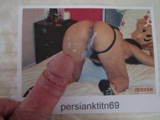persianktitn69 allowed me to wank over her picture, so I gave it a try, It felt so good dreaming about being there with her, giving her some licking before entering her from behind.