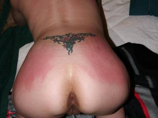 Very nice.  Try a riding crop or whip on her asshole and bare pussy