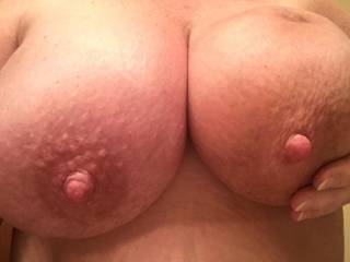 Want to suck on these? Cum on these? Tell me what you want to do.