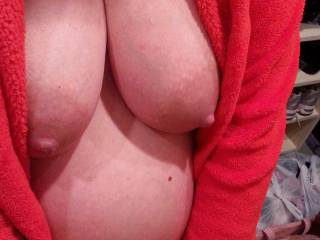 Do you like how my big pregnant tits rest against my growing belly?