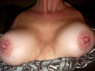 Perky tits out for Z man