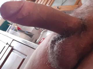 My cock is ready for breakfast... some girl wanna suck it deep?
