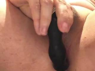 Lubing up my fresh shaved butt and insert fingers. and a vibrator