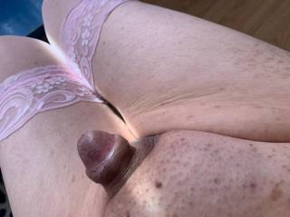Some Z friends thought that my cute little cock would look so hot in pink thigh highs.  Doesn\'t he look so cute?