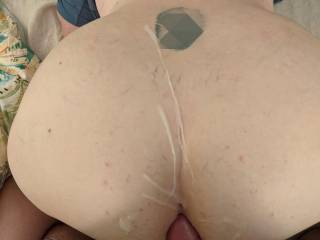 Won't be happy until your covered in cum and my cock head is resting on your asshole
