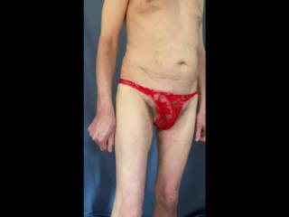 Trying out a new pair of undies.
