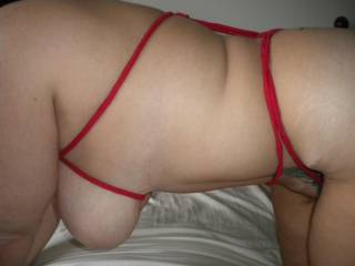 Love being tied up!!