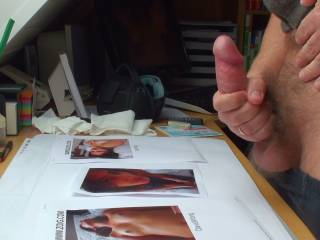 Masturbating my cock. A big one, isn´t it?