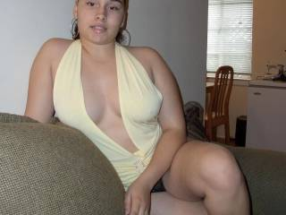 cant wait to see what delights are underneath your clothes! your boobs look amazing!
