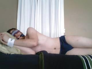 tied helpless stripped to undies...