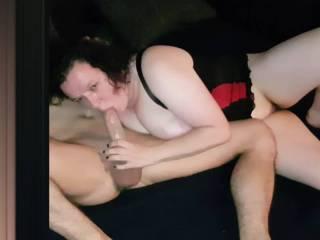Nadja sucks this delicious cock, with full dedication.