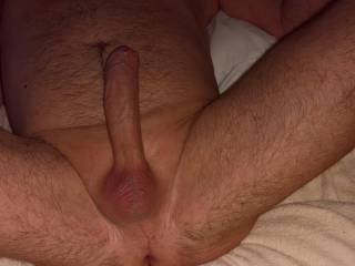 this photo was taken after waxing my genital area. My scrotum is a little bit red due to the waxing. Erection gets always very big after waxing my anus region