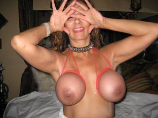 very sexy photo !!   Be sweet to see her walk in public with only a blouse on over top.. use the ropped tits bra  MMMM thank you for sharing :-))