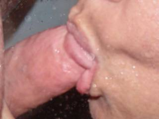 Be nice to try sucking that big cock myself