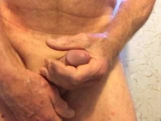 Getting ready to shave my cock and balls but couldn\'t resist masturbating first...