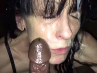 Any big black cocks fancy adding a load to this mess all over my face???