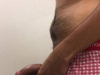 I get my curved cock hard and play till I cum