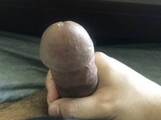 A little drop of precum just leaking out