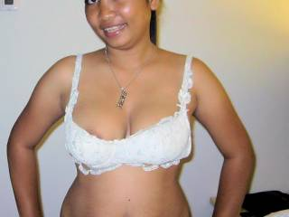 sexy Indonesian Girl Dewi showed me her lingerie and big boobs..