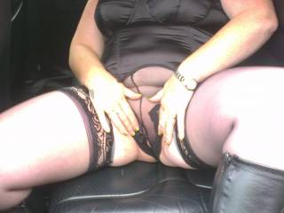 Looking hot babe! Love to sample those goods.
