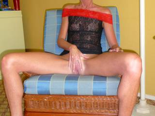 Do you really think you would have finished let me help with a little urge of yours sliding my fingers deep inside your tight pussy and hooking  them back to rub on your special spot just love how you squeeze my fingers with your pussy I want you to play with your clit as I'm stretching   your legs opening your pussy wide and finger fuck you, now taste     yourself