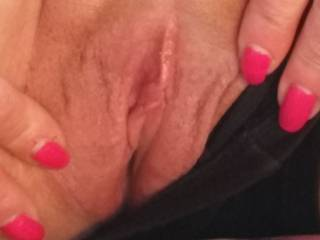 I'll talk dirty to you as I rub the head of my hard cock on your clit then I'll slide it in balls deep!!