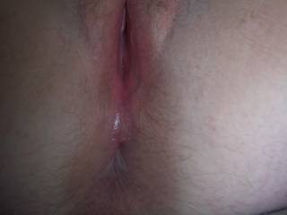 wifes pussy after a good fucking