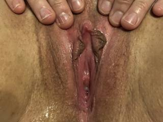 Spice showing her wet pussy