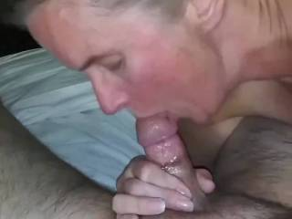 Sucking cock after a business trip