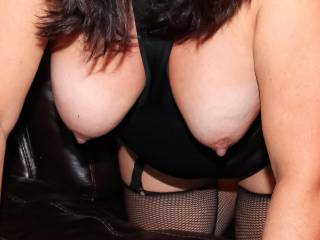 My titties hanging heavy with hard nipples!