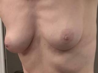 Somebody asked for a closeup shot of my breasts.  Is this close enough?  Would you like to get closer?  From Mrs. Floridaman