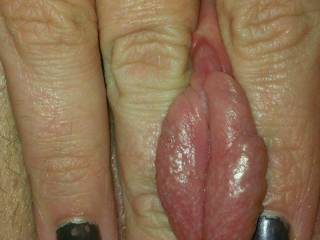 my juicy pumped pussy lips! feels so good!