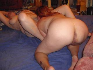 Wow yes, I would love to taste yr hot pussy and ass as you feast on her pussy, you look so horny!!