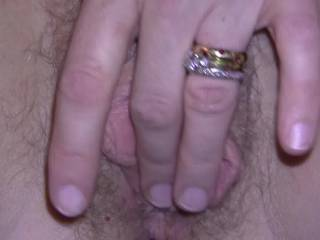 What wouldn't I do to that delicious,hairy pussy of yours! I love your gorgeous snatch! I wanna bury my face in it for a few hours kissing,licking,nibbling and suking you to dozens of orgasms before I stretch it with my big,thick,rock hard cick!