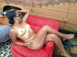 If I saw you in a campground like that, I would cum over and stroke my cock for you